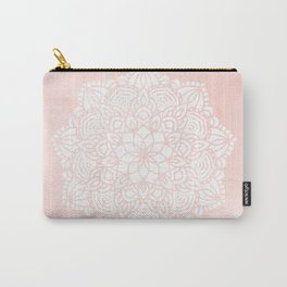 Mandala Mermaid Sea Pink by Nature Magick Carry-All Pouch