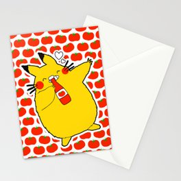 my neighbor loves ketchup Stationery Cards