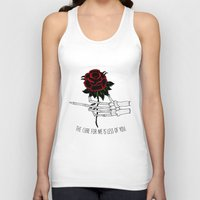 the cure Tank Tops featuring the cure for me by Mike Avery Draws