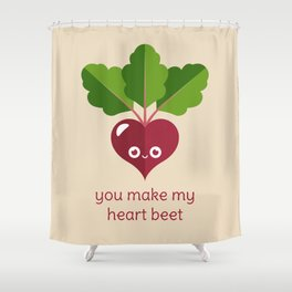You Make My Heart Beet Shower Curtain