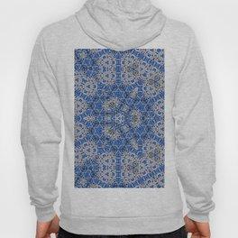 #hexagon #pattern #blue #tile Hoody
