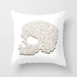 303. A Skull of Letters Throw Pillow