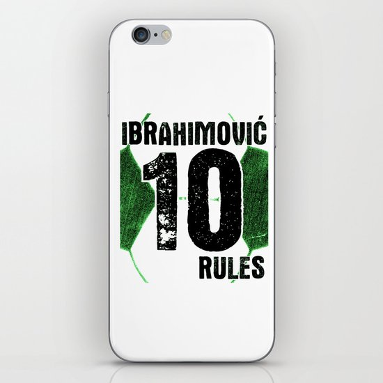 Ibrahimovic 10 Rules iPhone & iPod Skin