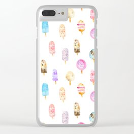 Dolce vita || watercolor ice cream summer pattern Clear iPhone Case