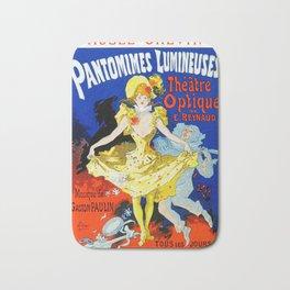 Jules Cheret Musee Grevin Pantomines Lumineuses 1892 Bath Mat