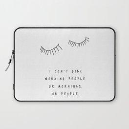 Morning People / Poster, scandinavian, art print, drawings, paintings, type, illustration, eye Laptop Sleeve