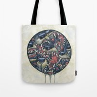anxiety Tote Bags featuring Anxiety by Mallory Hodgkin