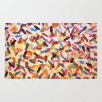 sprinkles Area & Throw Rugs featuring Sprinkles by Rachel Butler