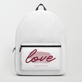 fruit of the spirit verse -  love  Backpack