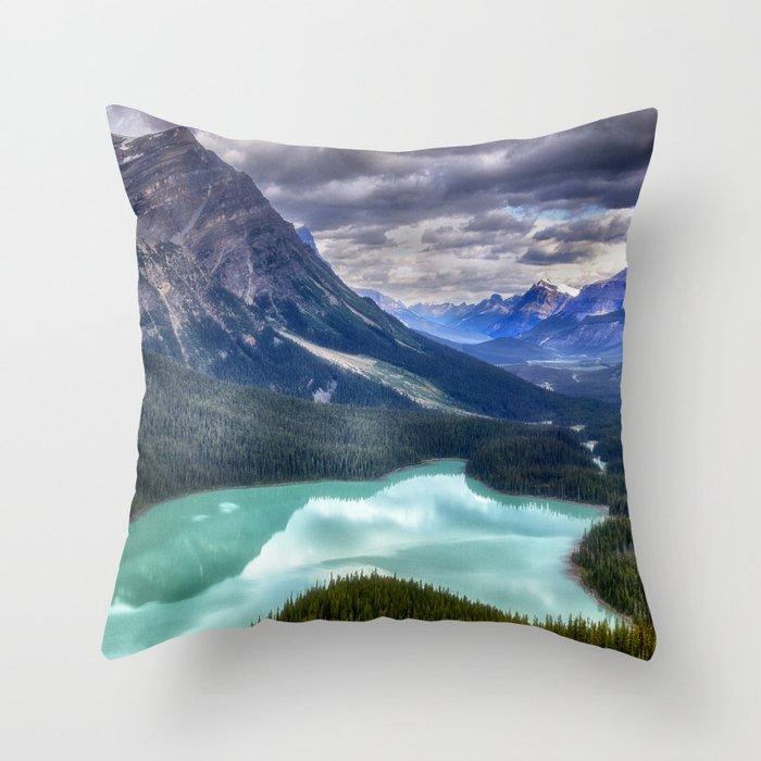Peyto Lake - Banff National Park Throw Pillow