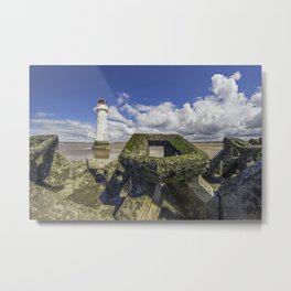 Perch Rock Lighthouse Metal Print