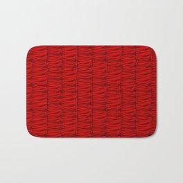 red silk curtains Bath Mat