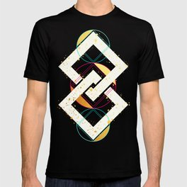 Linked Lilac Diamonds :: Floating Geometry T-shirt