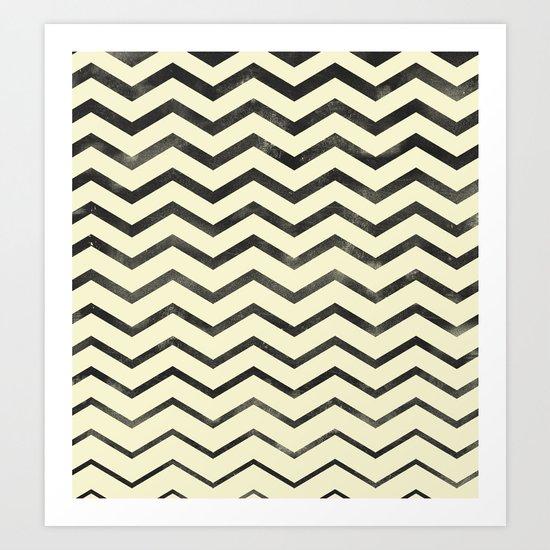 Zag (natural) Art Print