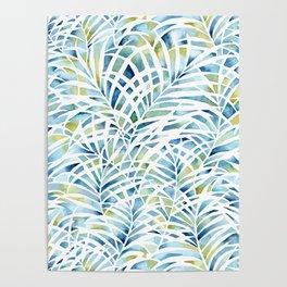 palm garden pattern Poster