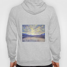 Stillness - Original sky and waterscape painting Hoody