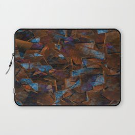 Frsgments In Bronze - Abstract Textured Art Laptop Sleeve