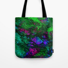 funky abstract waves Tote Bag