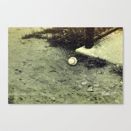 Lone Baseball; Experimental Approach Canvas Print