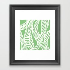 Al Peas: Ivory on Sage/Green Framed Art Print