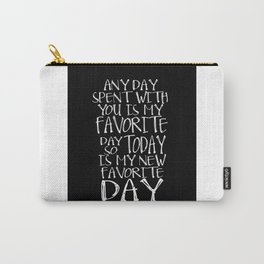 """Nursery Wall Art Little Girl Printable Poster Winnie the Pooh quote """"any day spent with you is my Carry-All Pouch"""