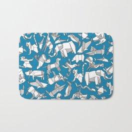 origami animal ditsy blue Bath Mat