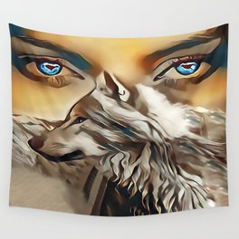 Spirit Of The Wolf Wall Tapestry