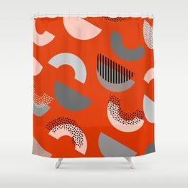 Half-circles Shower Curtain