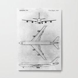 BOEING 747 Metal Print
