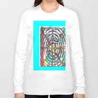 grid Long Sleeve T-shirts featuring COLOR GRID by  ECOLARTE