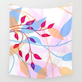 bright Flood of Leafs Wall Tapestry