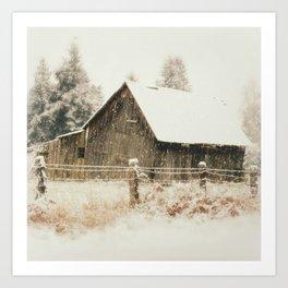 Rustic Winter Art Print