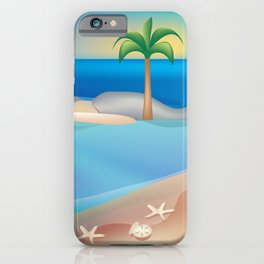 Turks and Caicos - Skyline Illustration by Loose Petals iPhone Case