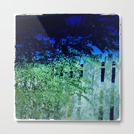 Summer Fence Metal Print