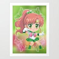 sailor jupiter Art Prints featuring Sailor Jupiter by Neo Crystal Tokyo
