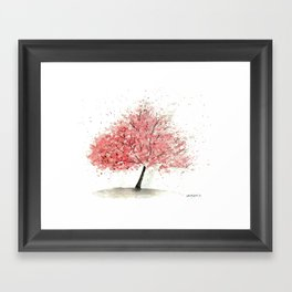 Kwanzan Cherry Tree Framed Art Print