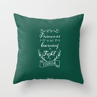 be brave Throw Pillows featuring Brave by Nikita Gill