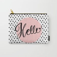 Hello Dots Hand Lettering - pink Carry-All Pouch