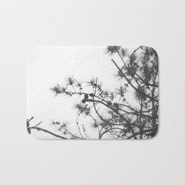 pine branches Bath Mat