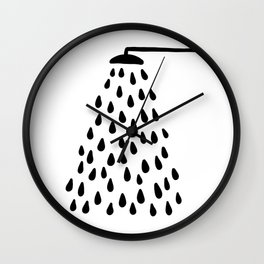 Shower drops with feucet on the right side Wall Clock
