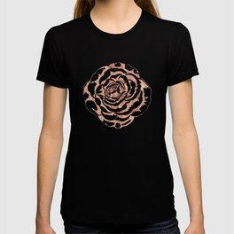 Elegant romantic rose gold roses pattern image T-shirt