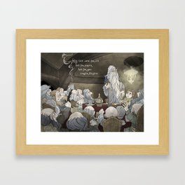 They've come for tea, & for supper, & for you Framed Art Print