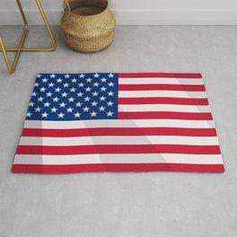 Waving US Flag Rug