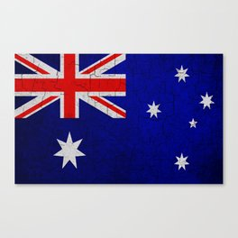 Cracked Australia flag Canvas Print