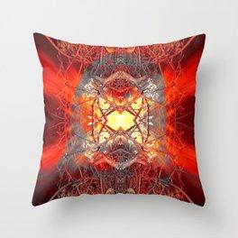 Spontaneous human combustion Throw Pillow