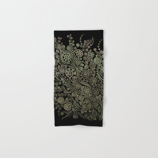Gold on black Hand & Bath Towel