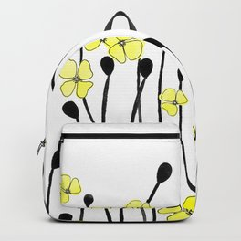 Yellow Wildflower Backpack