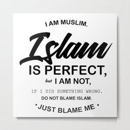 I Am Muslim Metal Print