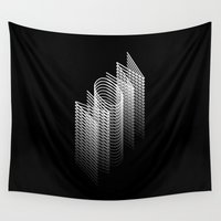helvetica Wall Tapestries featuring FOREVER NOW by THE USUAL DESIGNERS