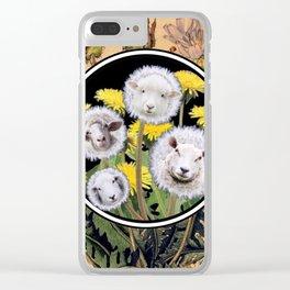 Dandelion Sheep II Clear iPhone Case